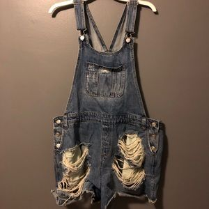 Distressed Overalls NWOT